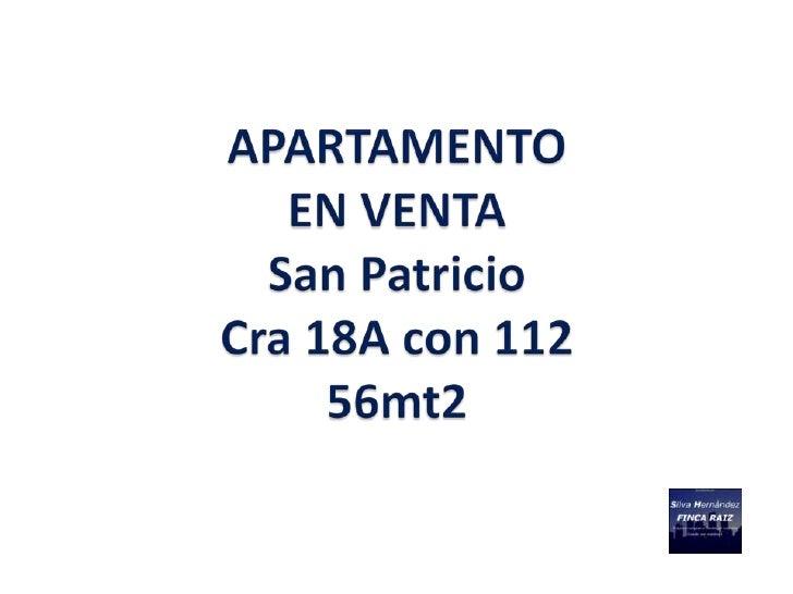 DESCRIPCION PROPIEDAD                   APARTAMENTO San Patricio – 56 M2                        EN VENTA                  ...