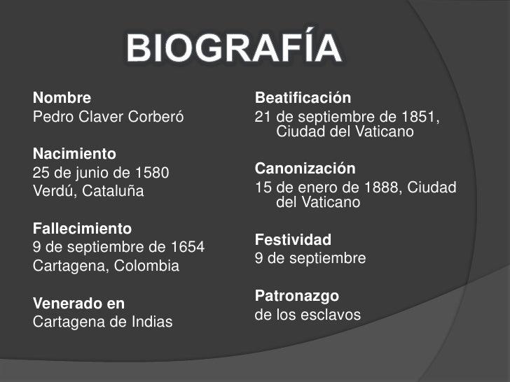 San pedro claver - Pedro piqueras biografia ...
