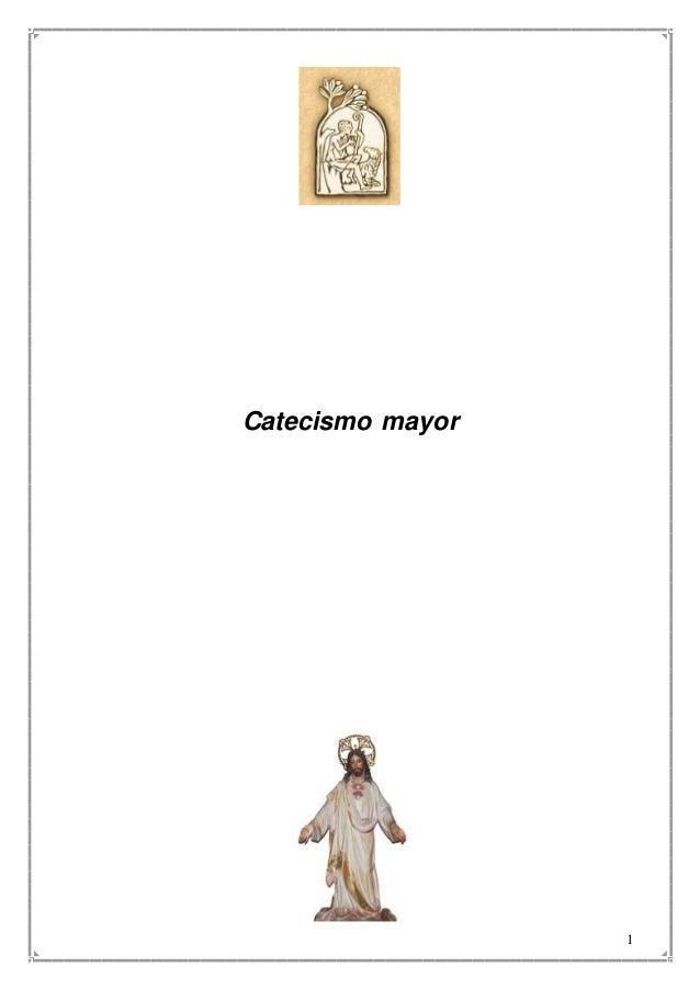 1 Catecismo mayor