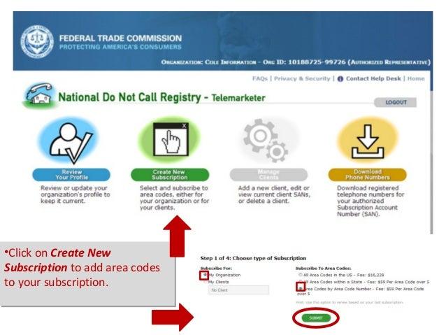 DNC List Scrubbing Success - National area codes list