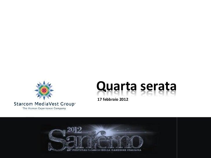 Quarta serata17 febbraio 2012