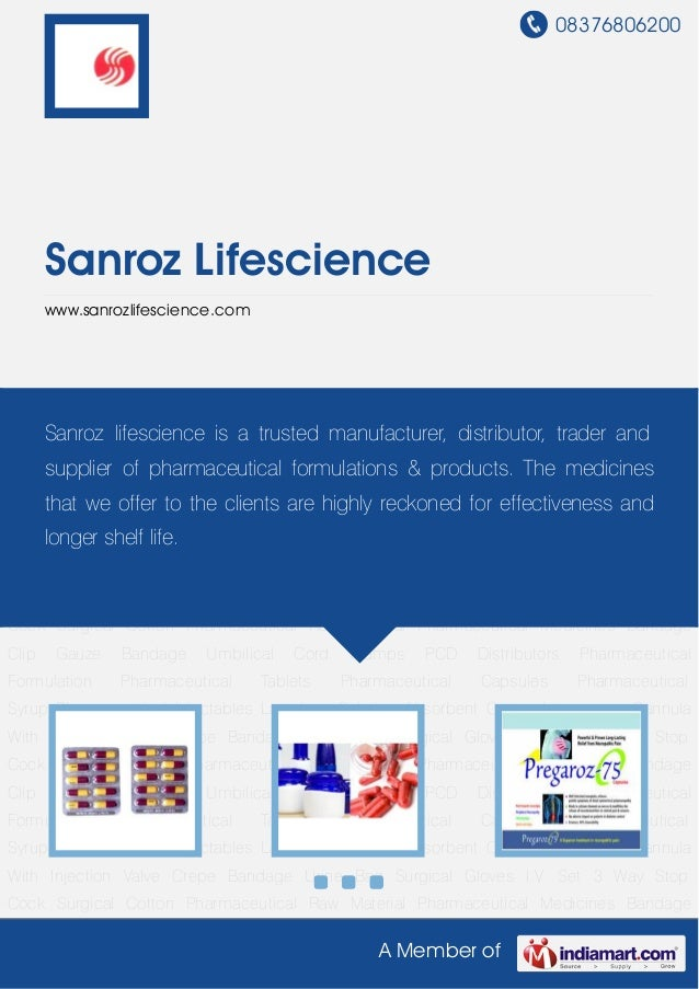 08376806200A Member ofSanroz Lifesciencewww.sanrozlifescience.comPharmaceutical Formulation Pharmaceutical Tablets Pharmac...