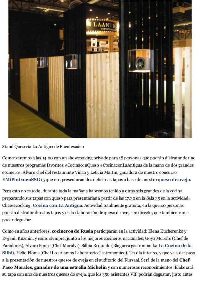 San Sebastian Gastronomika:  El Programa de La Antigua. Slide 2