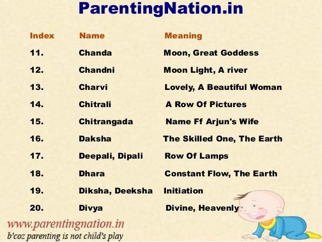Modern baby girl names meaning goddess lakshmi