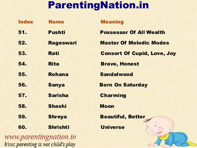 sanskrit baby girl names with meanings