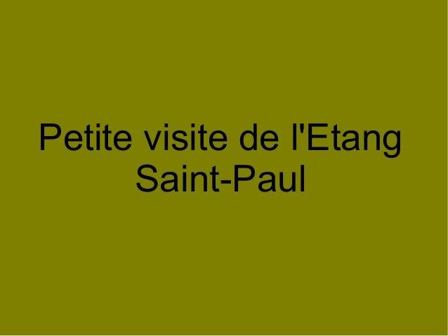 Petite visite de l'Etang Saint-Paul