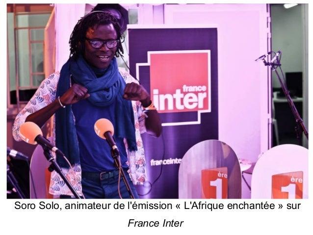 Soro Solo, animateur de l'émission « L'Afrique enchantée » sur France Inter
