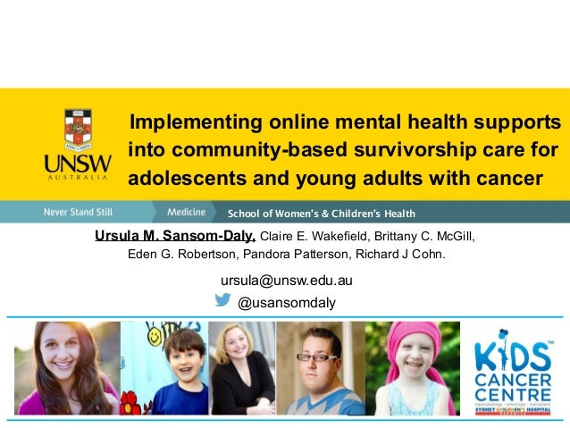 Implementing online mental health supports into community ...