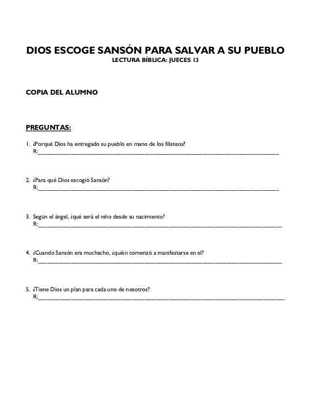 Nacimiento De Sanson Historia Para Ninos - Unifeed.club