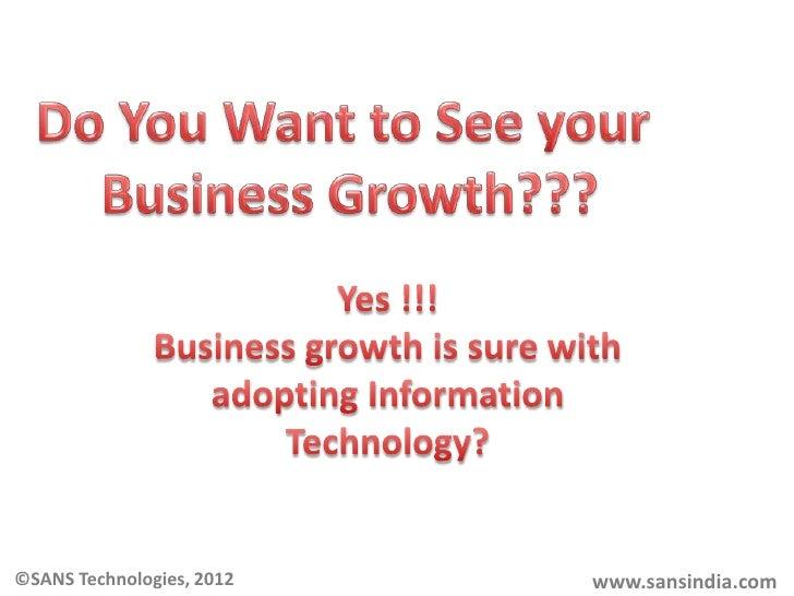 ©SANS Technologies, 2012   www.sansindia.com