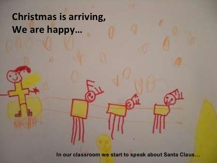 Christmas is arriving,  We are happy… In our classroom we start to speak about Santa Claus…