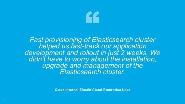 Elastic Cloud Enterprise @ Cisco