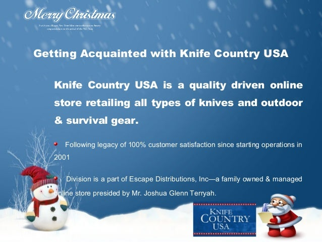 Santa Comes Early to Knife Country!
