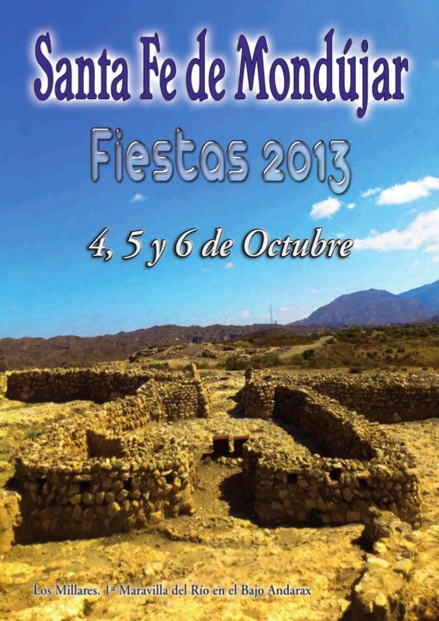 Programa de Fiestas de Santa Fe de Mondújar 2013