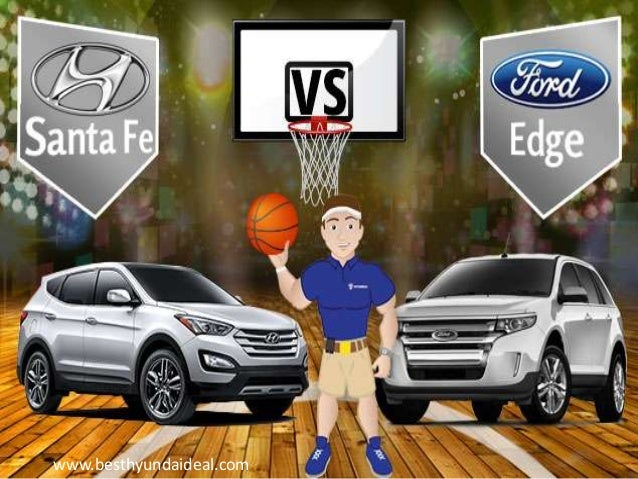 2013 Ford Edge Vs 2013 Hyundai Santa Fe