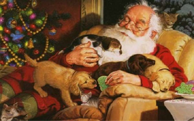 "Santa is ""resting"" Slide 3"