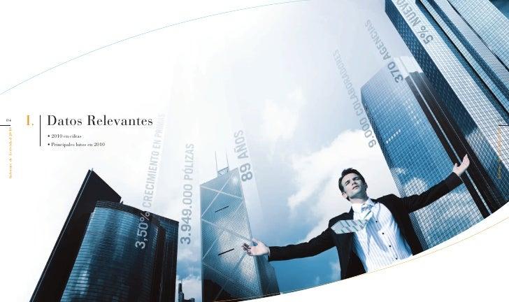 Santaluc a seguros informe de actividad 2010 for Horario oficina santa lucia