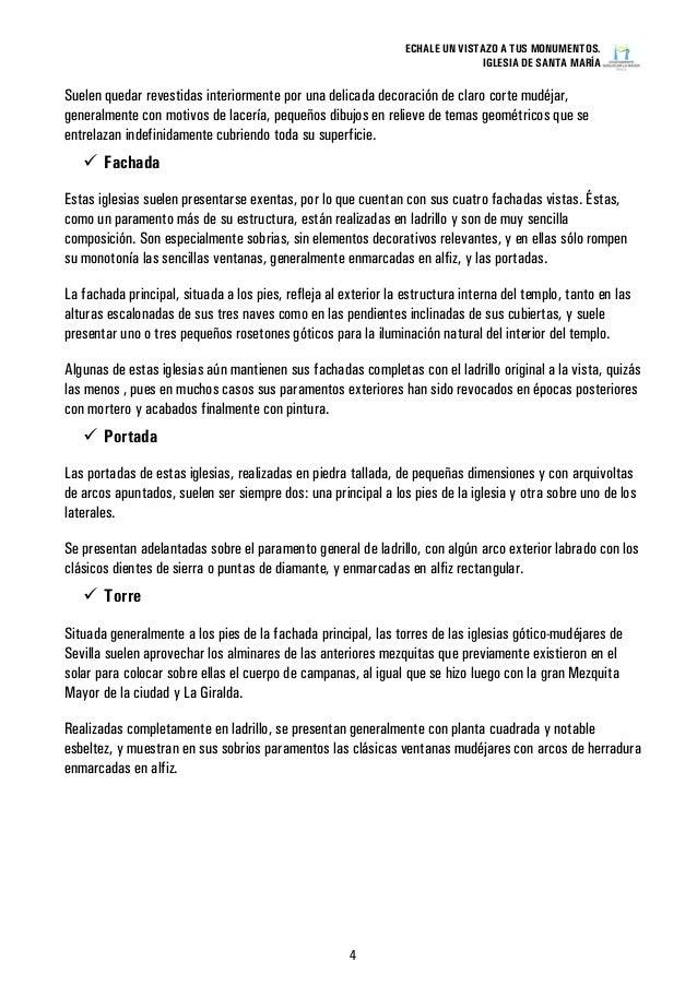 Informacion Iglesia de Santa Maria (Sanlúcar la Mayor)