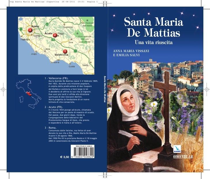 Cop Santa Maria De Mattias :Copertina     26-04-2011      10:01    Pagina 1                                               ...