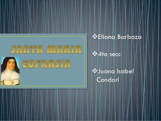 Eliana Barboza 4to secc Juana Isabel Condori