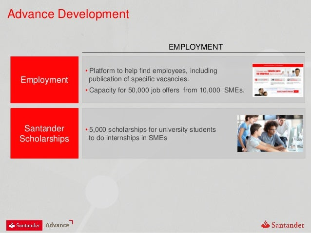Advance Development EMPLOYMENT Employment • Platform to help find employees, including publication of specific vacancies. ...