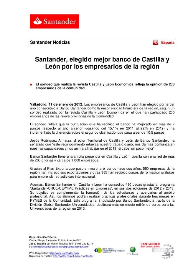 Santander Noticias                                                                 España     Santander, elegido mejor ban...