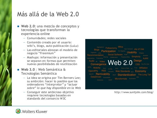 """Aceptación de la Tecnología Web 2.0: en el """"Punto Máximo de Expectativas Hinchadas"""" – visible en todas partes Web 3.0: tod..."""