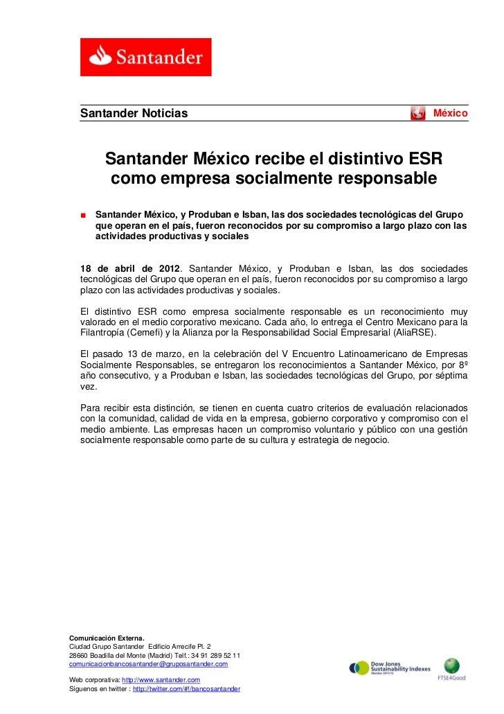 Santander Noticias                                                                  México            Santander México rec...