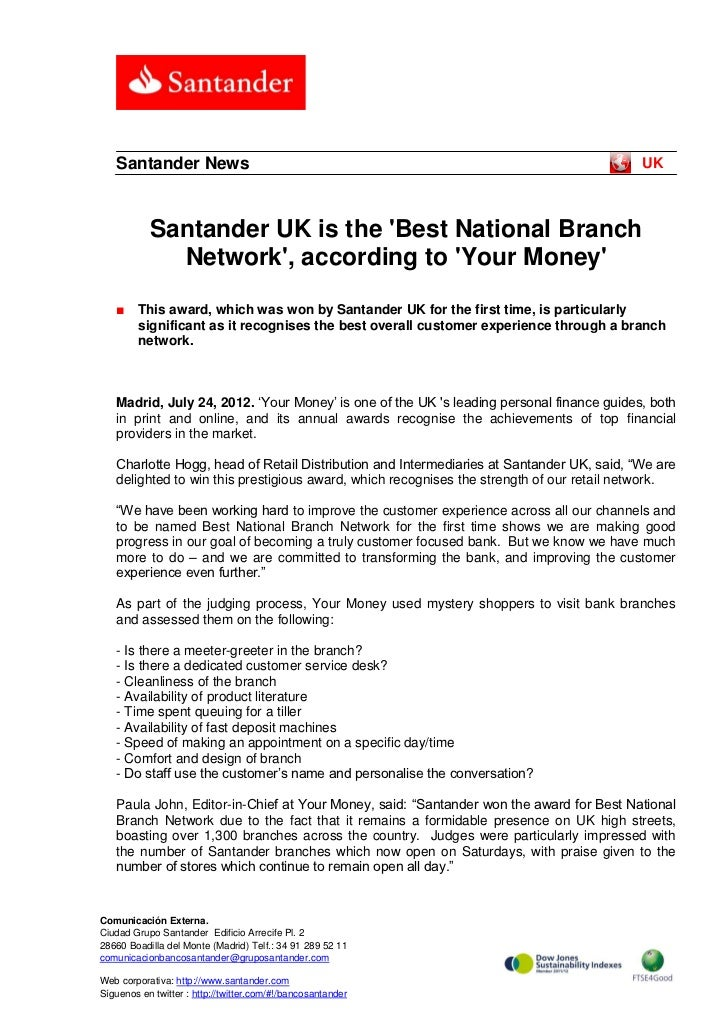 Santander News                                                                         UK           Santander UK is the Be...
