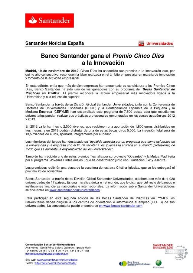 Santander Noticias España                                                           Universidades             Banco Santan...