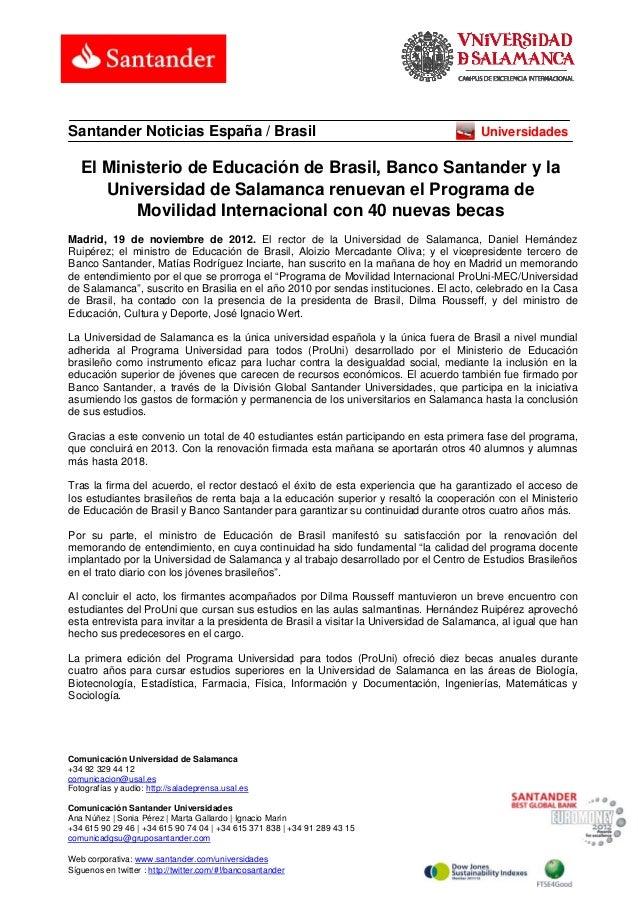 Santander Noticias España / Brasil                                                       Universidades   El Ministerio de ...