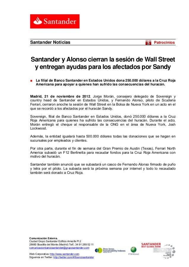 Santander Noticias                                                            Patrocinios Santander y Alonso cierran la se...