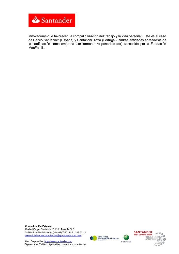 Santander Río reconocida como empresa con responsabilidad familiar Slide 2