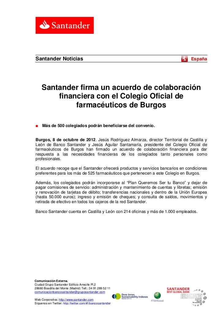 Santander Noticias                                                                España     Santander firma un acuerdo de...