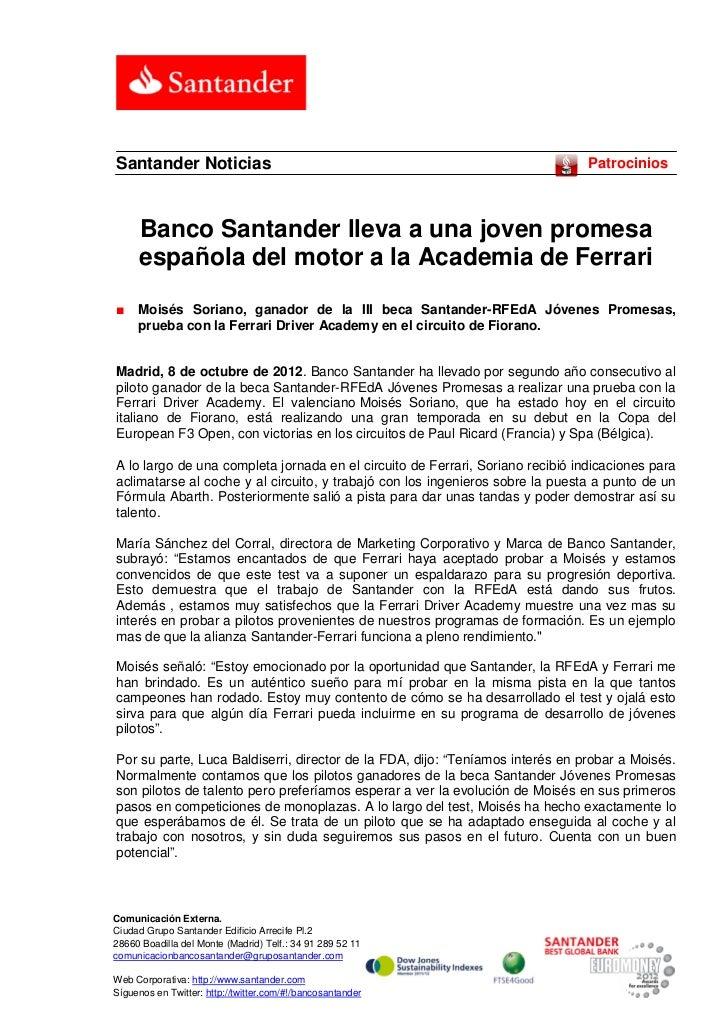 Santander Noticias                                                              Patrocinios     Banco Santander lleva a un...