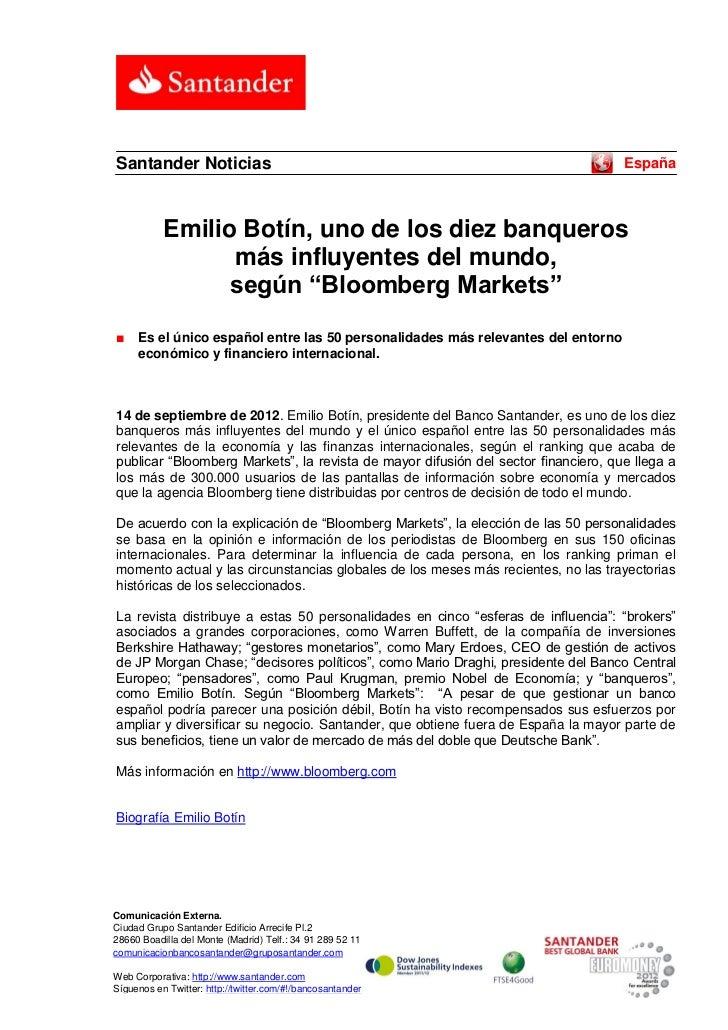 Santander Noticias                                                                  España           Emilio Botín, uno de ...