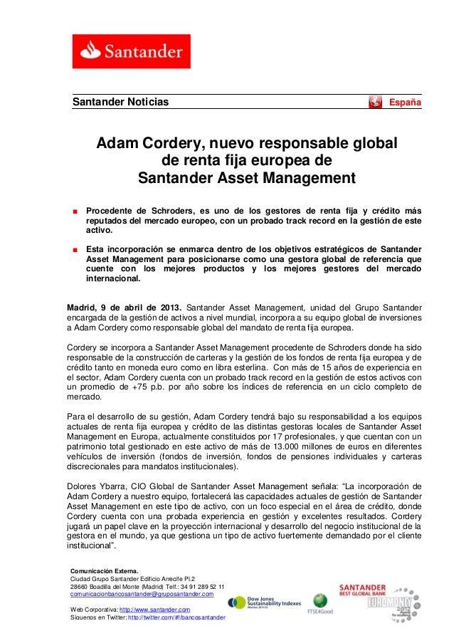 Santander Noticias                                                                     España          Adam Cordery, nuevo...