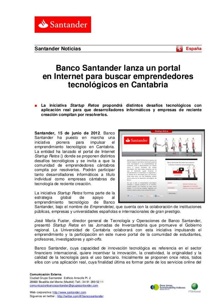 Santander Noticias                                                                     España              Banco Santander...
