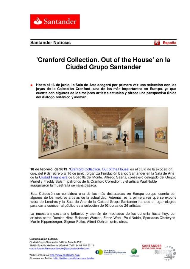 Santander Noticias                                                                 España      Cranford Collection. Out of...