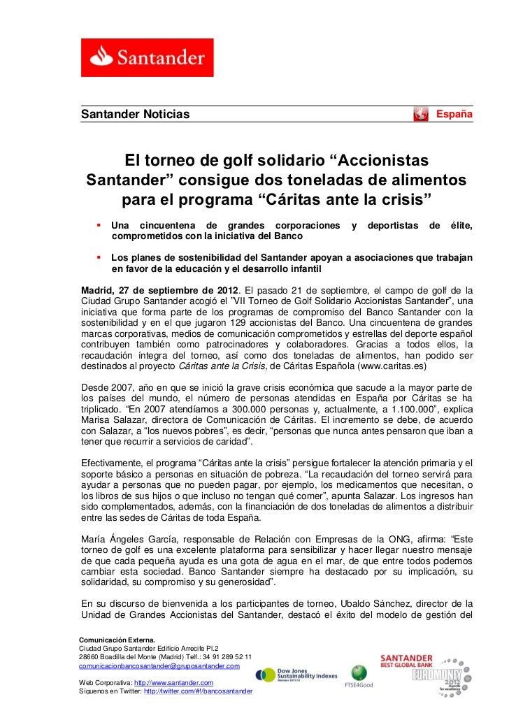 Santander Noticias                                                                     España      El torneo de golf solid...