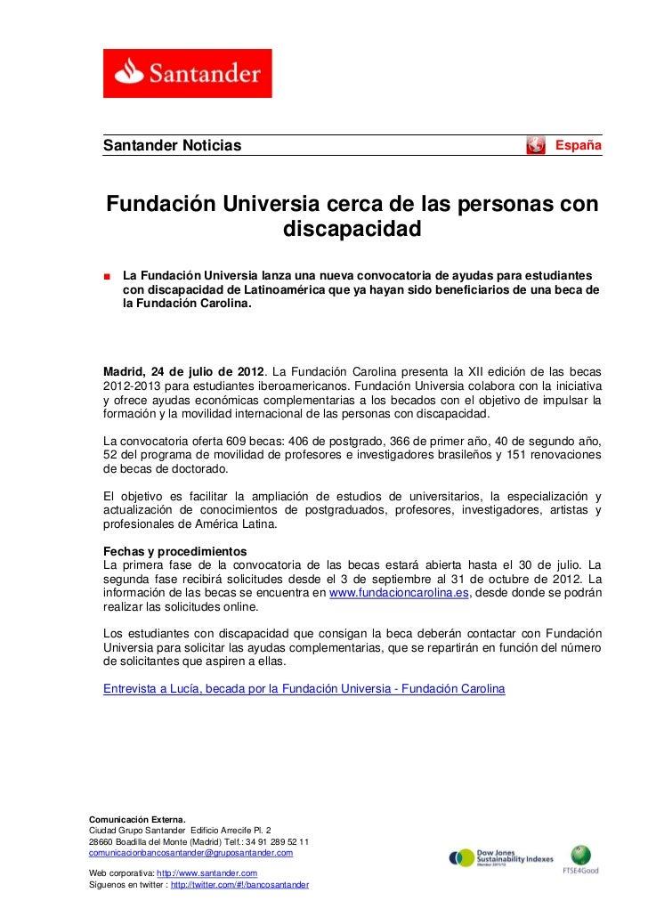 Santander Noticias                                                                 España    Fundación Universia cerca de ...