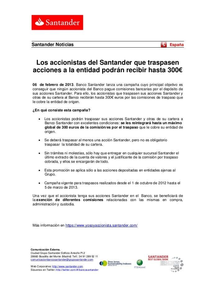Santander Noticias                                                                        España  Los accionistas del Sant...