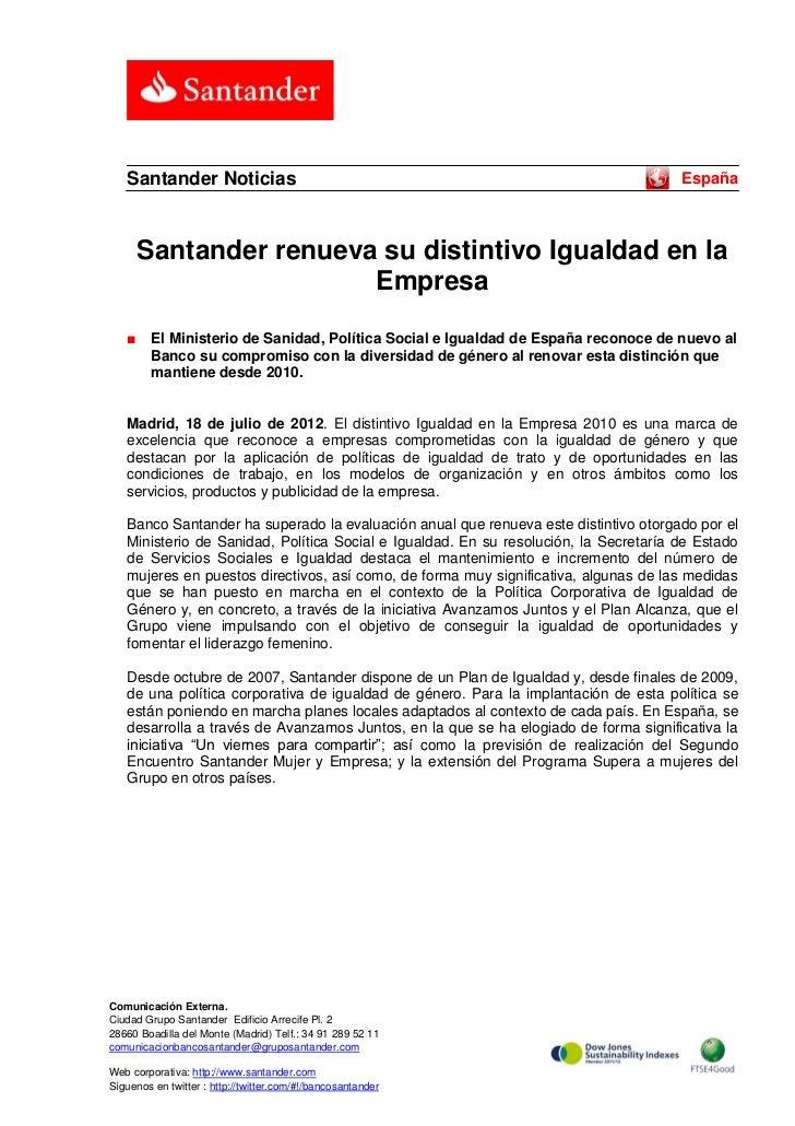 Santander Noticias                                                                 España       Santander renueva su disti...