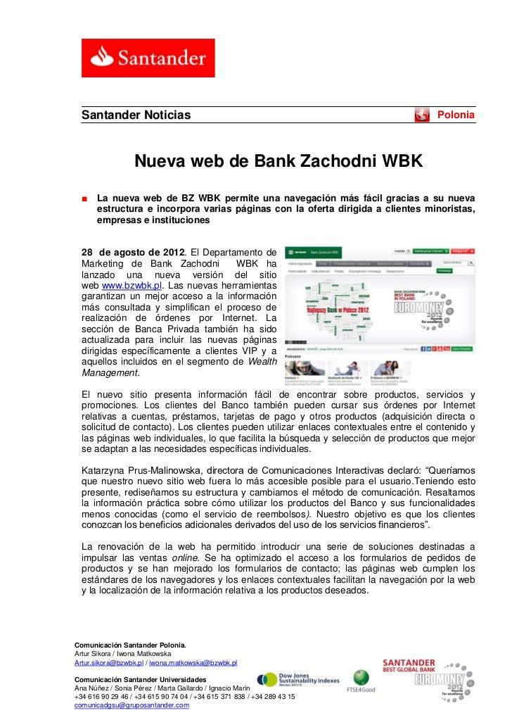 Santander Noticias                                                                  Polonia                  Nueva web de ...