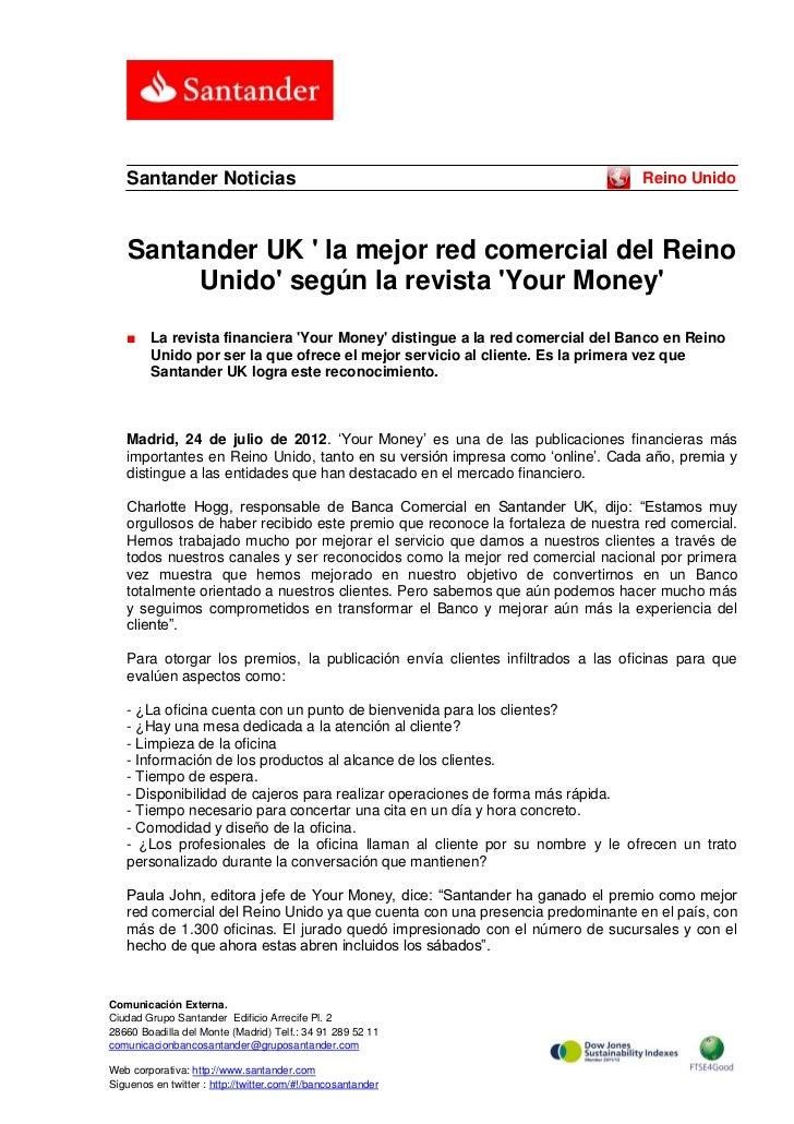 Santander Noticias                                                           Reino Unido    Santander UK  la mejor red com...