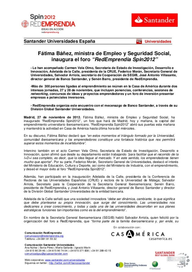 Santander Universidades España                                                                    Universidades           ...