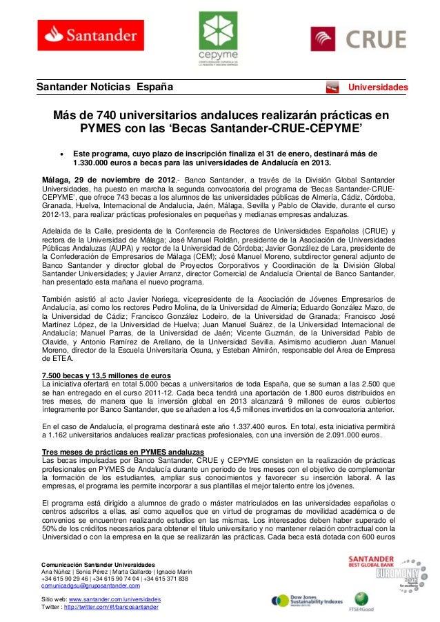 Santander Noticias España                                                                     Universidades    Más de 740 ...