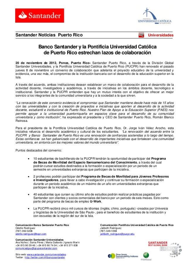 Santander Noticias Puerto Rico                                                                         Universidades      ...