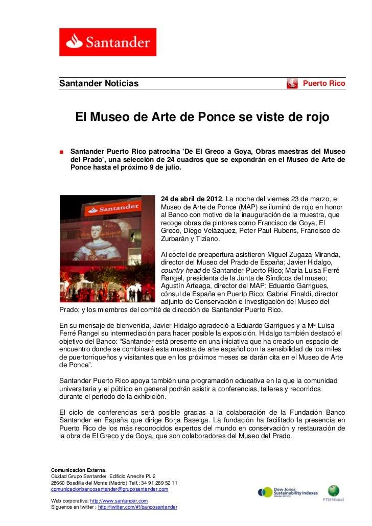 Santander Noticias                                                                         Puerto Rico           El Museo ...