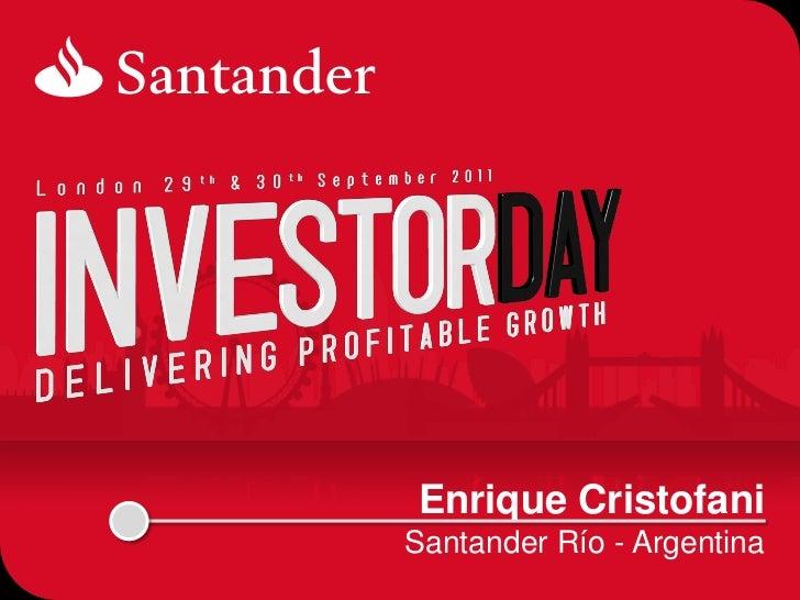 SANTANDER ARGENTINA-SANTANDER INVESTOR DAY